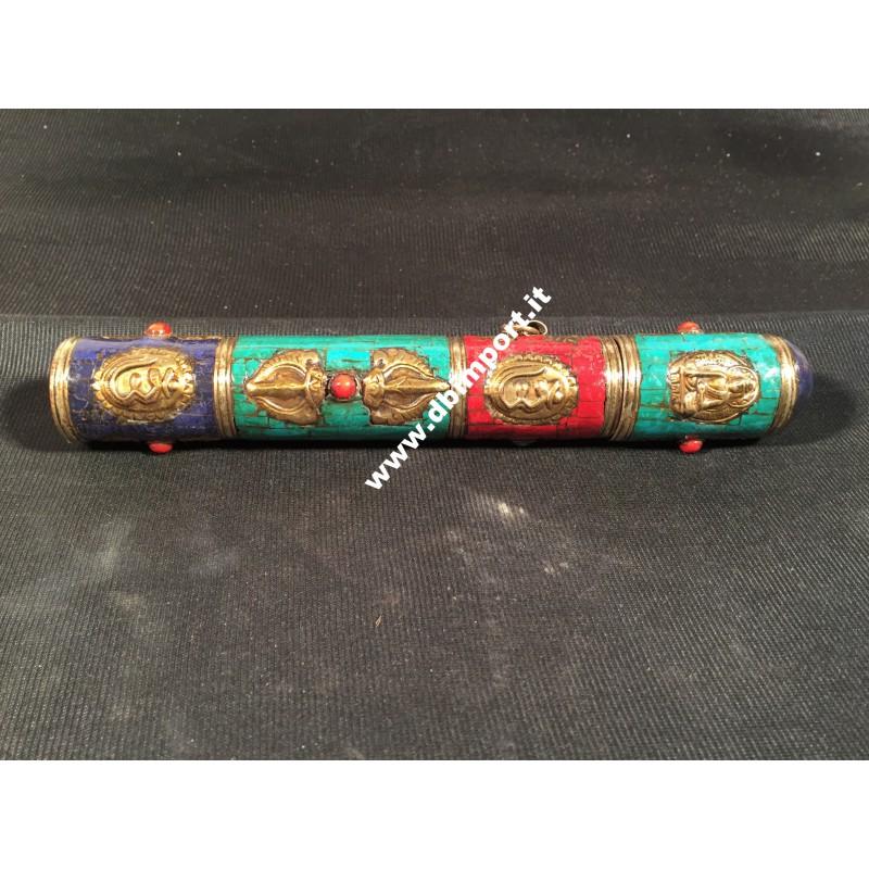 Porta incensi tibetani decorati