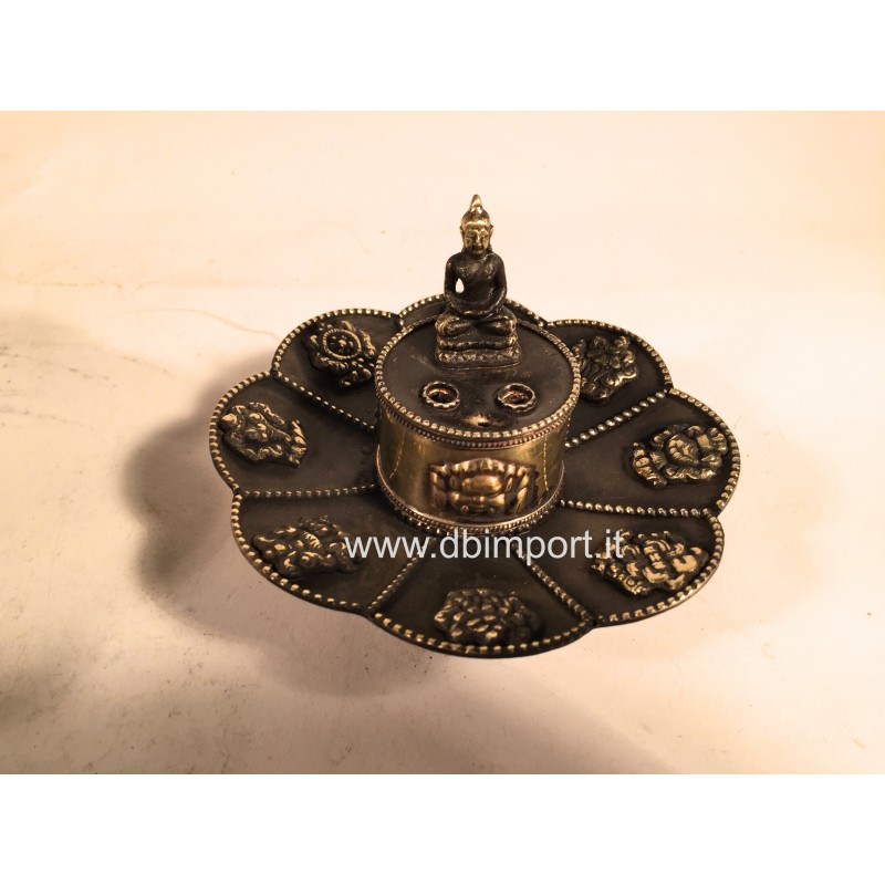 Brucia incenso tibetano Buddha